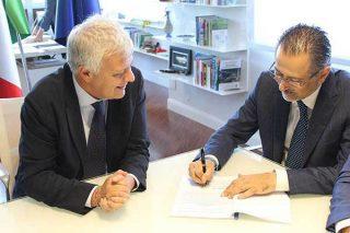 la firma dell'accordo Ispra-Regione Basilicata - fonte lucana notizie