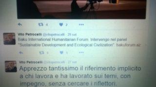 profilo twetter del portavoce Petrocelli - a Baku per il forum umanitario