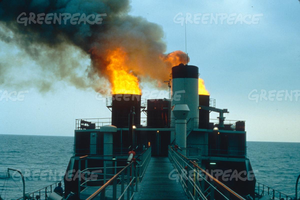 una Vulcanus in azione - fonte sito Greenpeace